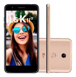 Smartphone Lg K11 Alpha Dourado 16gb Câmera 8mp 4g