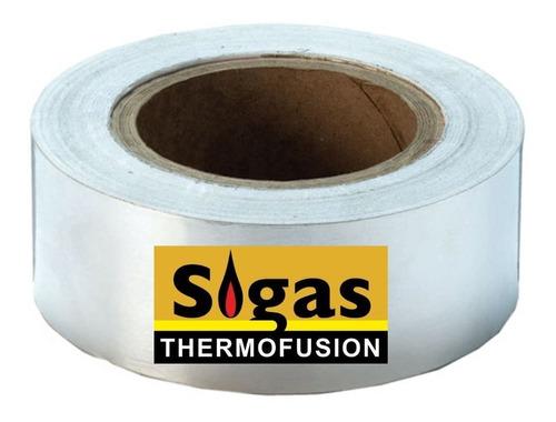 Imagen 1 de 9 de Cinta De Aluminio Sigas 48mm X 40m Gas Termofusión Dema