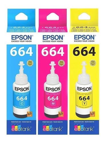 Combo Tinta Epson Colores Original 664 L210 L220 L355 L365