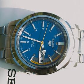 Relógio Seiko 5 Automático Original Snkk27k1 Fundo Azul