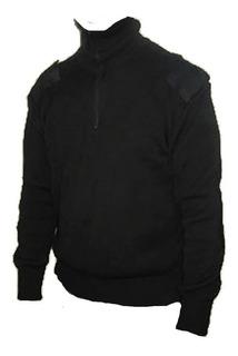 Tricota Policial Seguridad Con Parches Negro