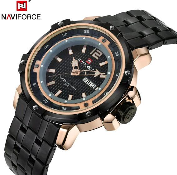 Relogio Naviforce Gold Super Luxo