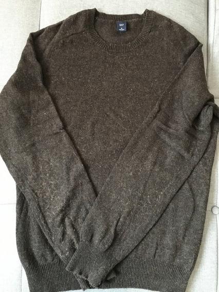 Sweter Gap Original Usado En Excelentes Condiciones Xl Café