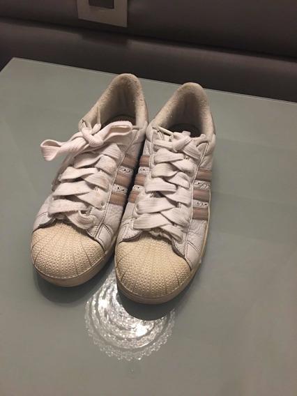 Tênis adidas Rosa E Branco