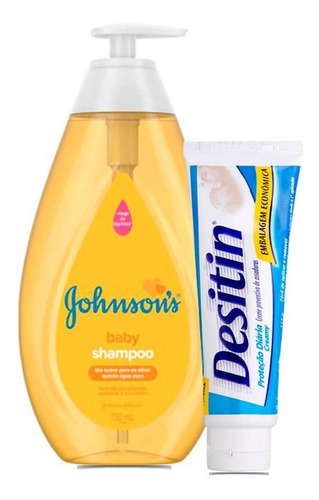 Shampoo Regular Johnsons Baby 750ml+1creme Assaduras Desitin