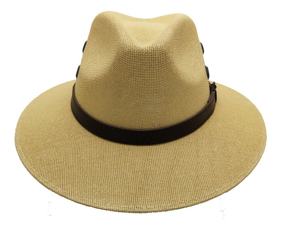 Sombrero Yute Unisex Indiana Hipster Hombre Mujer