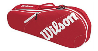 Raqueteira Wilson Advantage Team Triple Bag Vermelha - Nova