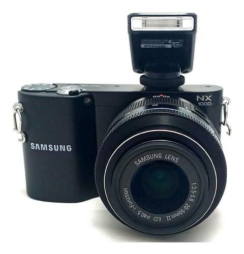 Câmera Samsung Nx1000 Lente 20-50mm Ii Ed E Flash Seminova