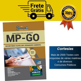Apostila Secretário Auxiliar Mp Go Senador Canedo Goiás 2019