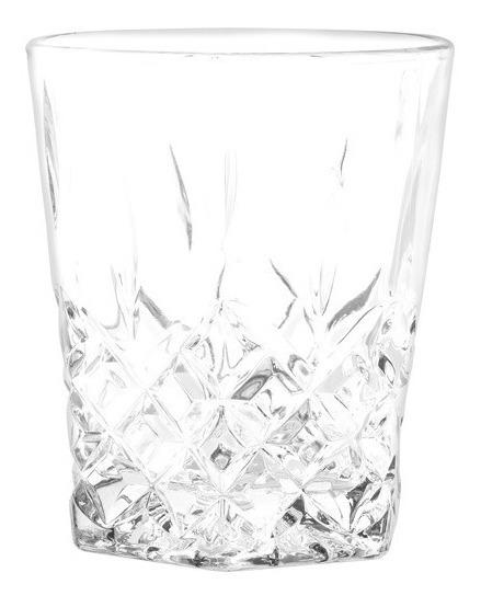 Vaso Diamante Cristar Facetado Vidrio Resistente Caja X 48 U