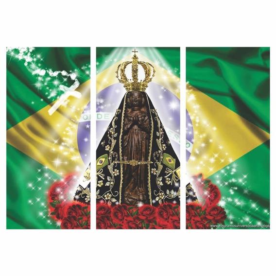 Quadro Nossa Senhora Aparecida Padroeira Do Brasil Decorativ