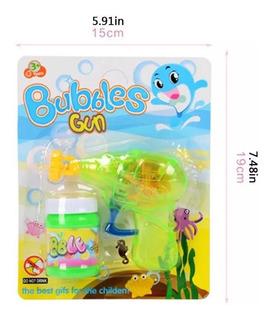 Burbujero Infantil Bubbles Luz Pistola Colores Niño