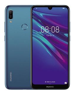 Celular Huawei Y6 2019 Huella+silicon+vidrio 32/3ram