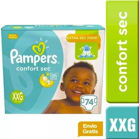 1 Paquete De Pañales (74u.) Pampers Confort Sec Talla Xxg