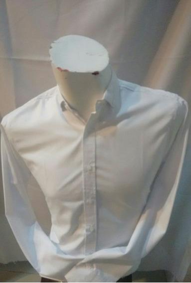 Camisa Blanca Manga Larga Para Caballero 369