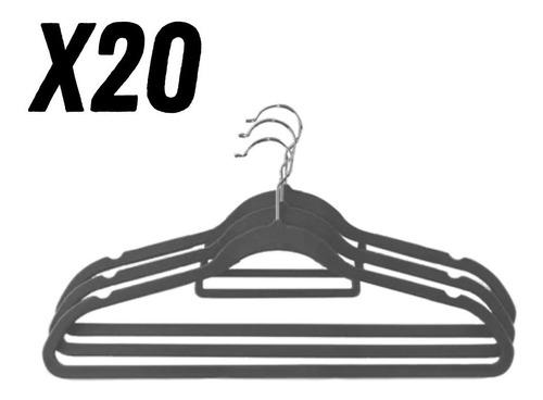 Imagen 1 de 5 de 20 Perchas Reforzadas Con Antideslizante Máxima Calidad