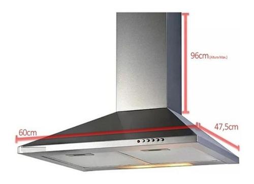 Imagen 1 de 8 de Campana Extractor Acero Inoxidable Luz Led Filtro Lavable