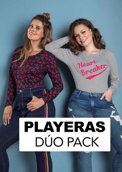Playeras Dama Andrea Duo Pack 1451474