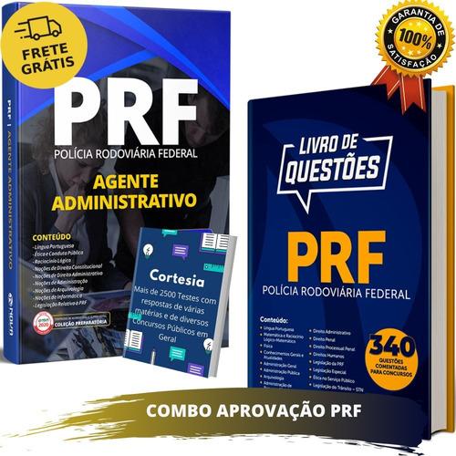 Kit Apostila Prf Agente Administrativo + Caderno De Questões
