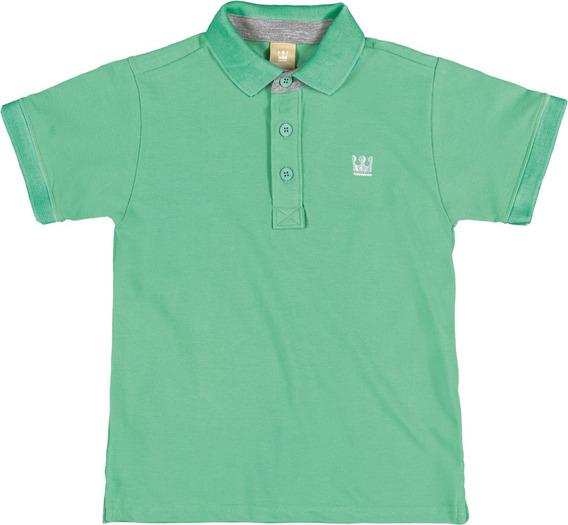 Polo Infantil Colorittá Em Pique Verde