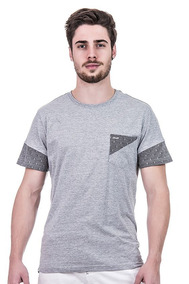 Camiseta Masculina Minimalista Hifen Com Bolso