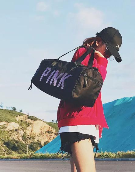 Pink Bolsa Mala Academia Fashion Passeio Viagem Mulher
