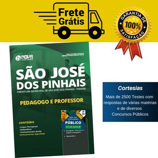 Apostila Pedagogo Professor São José Dos Pinhais 2019 Paraná
