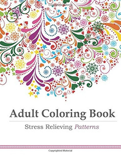 Libro Adult Coloring Stress Relieving Patterns *sk