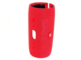 Carcaça Externa Jbl Charge 3 Vermelha Tecido E Plástico