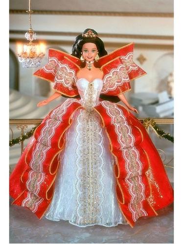 Imagem 1 de 5 de 1997 Happy Holidays Barbie Doll