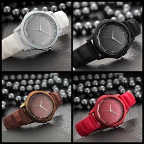 Relógio Feminino Pulseira De Silicone Preto Delicado Barato