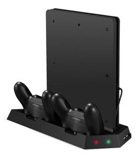 Base Con Ventilador Para Ps4 3 Puertos Usb Dock D Carg