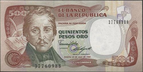 Colombia, 500 Pesos 20 Jul 1989  Bgw403