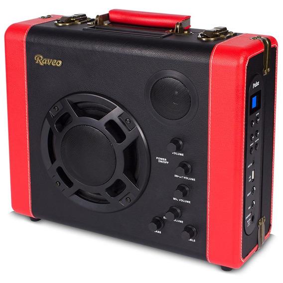 Caixa Amplificada Portátil Retro Raveo Pulse 30w Bluetooth A