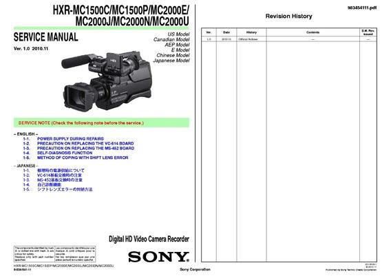 Manual De Serviço Hxr-mc 2000