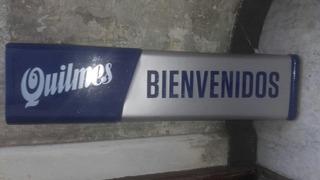 Cartel Quilmes Acrilico Publicidad Coleccion Largo 120 Cm