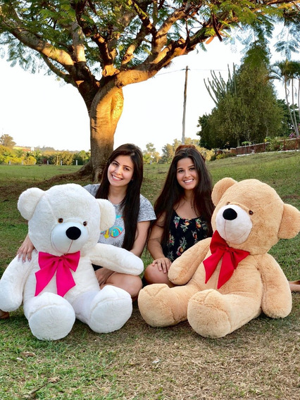 Urso Gigante Pelúcia Grande Macio - Teddy Bear 1,10 Metros