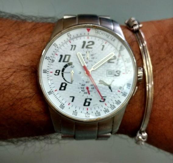 Relógio Masculino Aço Analógico Puma
