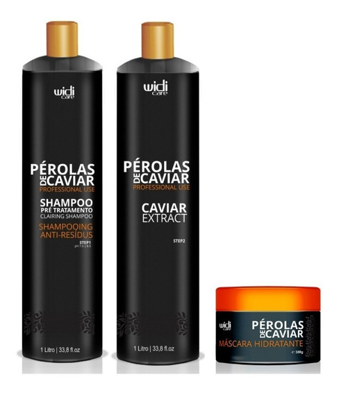 Combo Pérolas De Caviar 2x1000ml + Másc 300g Ganhe 1 Brinde