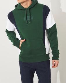 Moletom Hollister Com Capuz Importado Masculino Verde Azul B