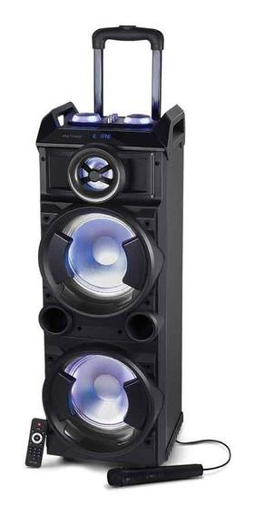Caixa De Som Torre Double 8 Bt/fm/usb/sd/aux Microfone 300w