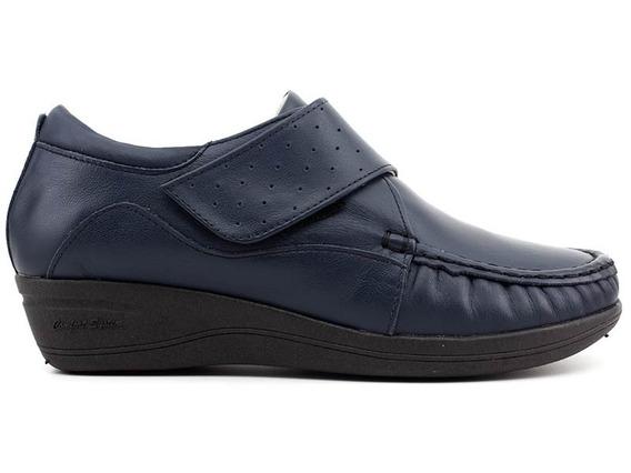 Sapato Feminino Mager Shoes 084 Couro Marinho Loja Pixolé
