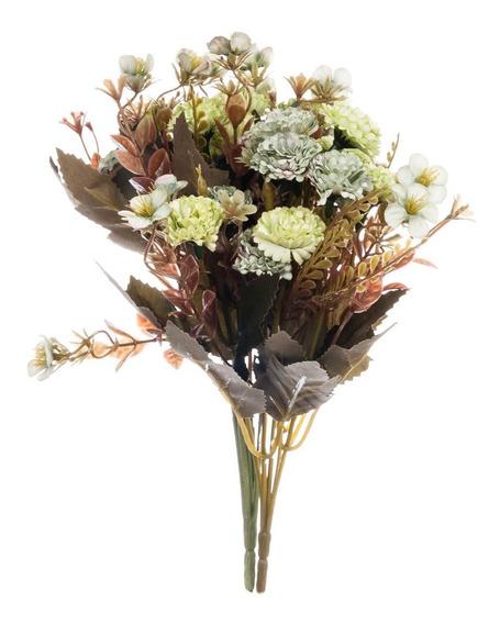 Flor Artificial Galho Plástico Tecido Decoração 30cm