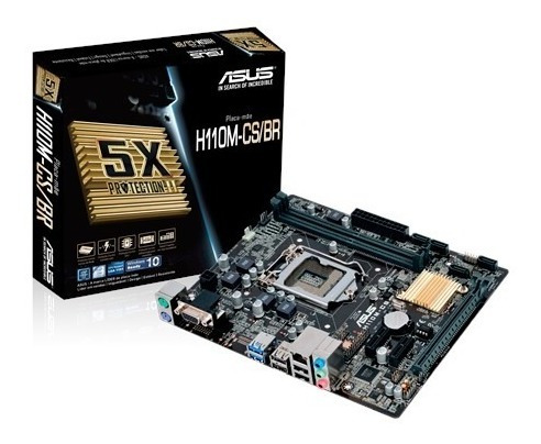 Placa Mae Intel Asus H110m-c/br Lga 1151 Ddr4 Usb 3.0 Hdmi