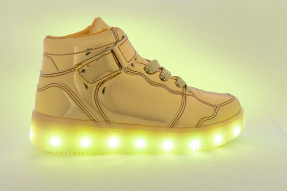 Tenis Led Luces Tallas 17-21 Niñ@ Tipo Air Force 1
