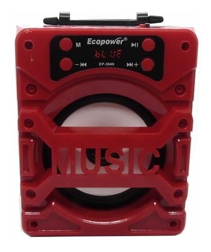 Caixa De Som Bluetooth Ecopower Ep-3849