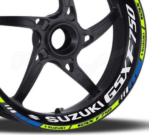 Friso + Adesivo Refletivo Roda M1 Moto Suzuki Gsx 750 F 750f
