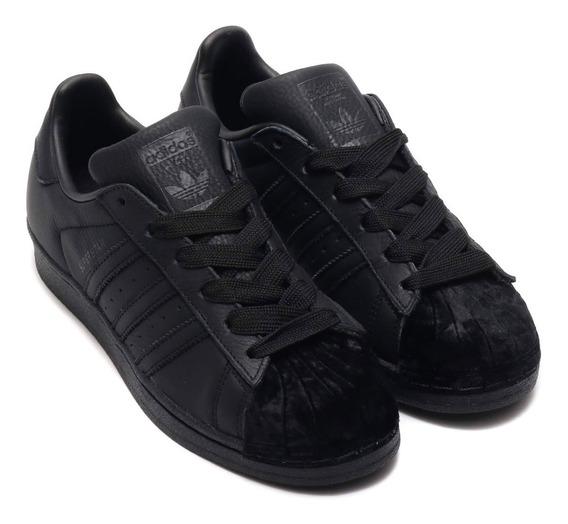 Tenis adidas Superstar Preto Veludo - Original