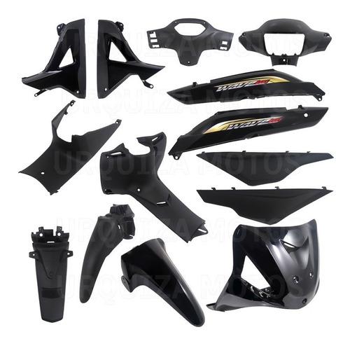 Kit Plasticos Negro Calcos Honda Wave 2014 13 Piezas Yoyo Um
