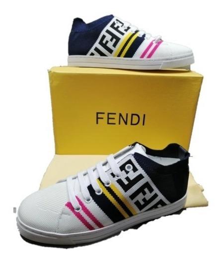 Tenis Fendi Pink White Logo Envio Gratis